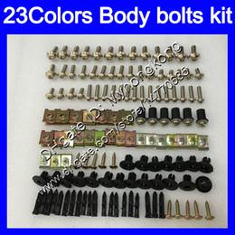 Wholesale Kawasaki Zx12r Fairings - Fairing bolts full screw kit For KAWASAKI NINJA ZX12R 00 01 ZX 12 R 00-01 ZX 12R ZX-12R 2000 2001 Body Nuts screws nut bolt kit 23Colors