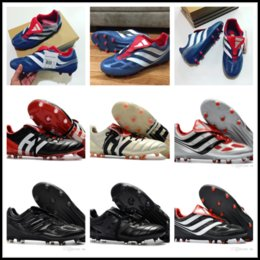 Wholesale Indoor Outdoor Turf - high quality soccer cleats Predator Precision TF IC turf football boots Predator Mania Champagne FG indoor soccer shoes