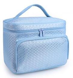 Femmes sac cosmétique en cuir véritable sacs de maquillage célèbre marque designer maquillage boîte grand organisateur de voyage voyage sac de toilette fourre-tout top qualité ? partir de fabricateur