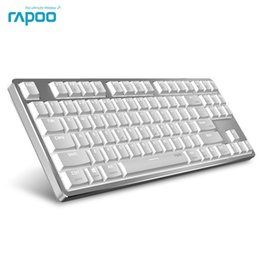 Wholesale Dual Os Windows - New Rapoo MT500 Backlit Office Mechanical Keyboard for Windows and Mac OS Dual System