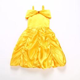 красные белые полосатые дети платье Скидка 2018 новая девушка принцесса одеваются костюм дети без рукавов желтое вечернее платье дети девушка карнавал Рождество день рождения бальное платье оптом