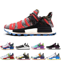 newest 832b5 549ea Human Race Factory Yellow Red Black Orange Men Pharrell Williams X Human  Race Women Running Sports Shoes Fashion Sneakers Size 36-45 sneaker x  promotion