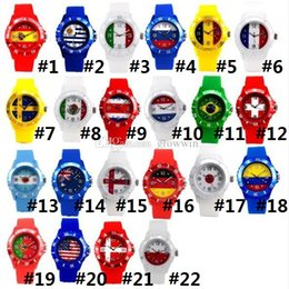 Wholesale Multi Color Fan - 2018 Russia World Cup Gift Flag Watch Silicone Football Fan Watch Hot silicone gift watch World Cup Gift Promotion D0004