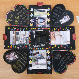 handgemachte geschenkboxen Rabatt Kreative Diy Explosion Box Überraschung Geschenk Originalität handgemachte Boxen romantische Album Decor für Valentinstag Scrapbooking 14zr jj