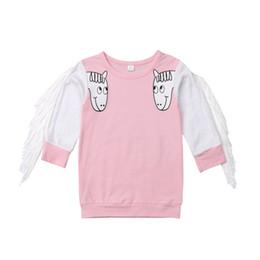 maglietta di nappa dei capretti Sconti Bambino unicorno nappa T-shirt primavera autunno manica lunga felpa bambini ragazze ragazzi cartoon top Boutique Tees bambini Abbigliamento C5443