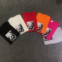 Hundet-shirt orange online-18FW Box Logo Erinnern Sie sich an Ihre Freunde Tee Street T-Shirt Skateboard Hund T-Shirts gedruckt Mode Streetwear HFTTTX005
