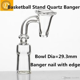 Wholesale Pipe Polishing - Wholesale 2016 New Basketball Stands Style Quartz Banger Nail 10mm 14mm 19mm Male Female Polished Joint for Water Pipes at DUDU8868
