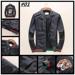 Wholesale Vintage Lurex - 2018 newest fashion Wave Of Men Embroidery Floral Print Jacket Men Luxury Zipper Casual Loose coat medusa Jacket M-3XL