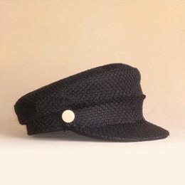 зимние шапки военно-морского флота Скидка 2018 Women's Beret Hat New Arrivals Navy Cap For Women Fashion  Vintage Boina Autumn Winter Newsboy Caps S/M/L Size