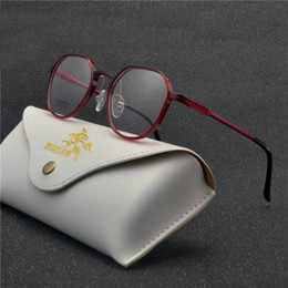 64a7460c03 2018 Big Round Frame Thin Rim Glasses Hombres Mujeres Anteojos Ópticos  Gafas para estudiantes Prescription Myopia Eyewear con caja FML Ofertas de  lentes ...