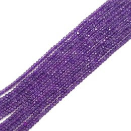 Wholesale faceted amethyst beads - Lii Ji Natural stone AA Amethyst about 2x3mm Flat Round Shape Faceted beads approx 37cm DIY Jewelry Making Bracelet Necklace