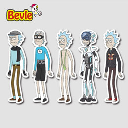 Wholesale Bicycle Decal Stickers - 30Pcs lot pvc American Drama Rick and Morty Funny Sticker Decal For Car Laptop Bicycle Motorcycle Notebook Waterproof Stickers