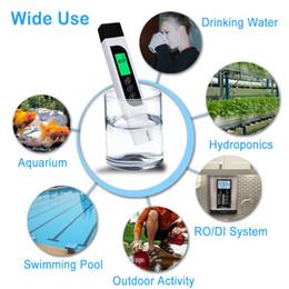 Canada Testeur de qualité d'eau numérique Professional TDS EC Meter Pen 3 en 1 0-9990 Ppm ± 2% Précision Idéal pour l'eau potable Aquariums Natation cheap quality tds meter Offre