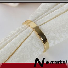 Wholesale Luxury Napkins Wholesale - Wedding New Ring Ring 18 Golden Luxury Napkin Rings For Wedding Everyday Use Dinning Simple Fashion Home Napkin Buttons Dinner