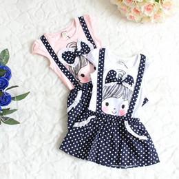 Wholesale White Overalls Baby Boy - Baby Girls Short Sleeve Dress Girls Kids Polka Dot Dress Clothes Overalls