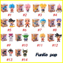Wholesale action figure dragon ball z - FUNKO POP Dragon Ball Z Son Goku Vegeta Piccolo Cell PVC Action Figure Collectible Model Retail action figures surprise doll for kids toys