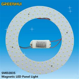Wholesale Board Meter - High brightness 15W 18W 22W 28W 36W LED Panel Light SMD2835 LED Round Ceiling light+driver Board Panel Circular Tube Lights