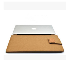 Wholesale Apple Notebooks Laptops - Macbook computer package Air, Pro apple notebook without inner jacket cover wool felt protection sleeve