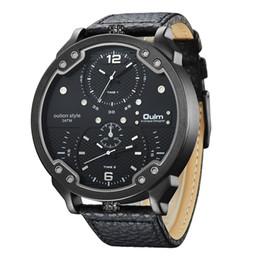 2018 Oulm marca orologio al quarzo maschile quadrante quadrante sportivo orologi da polso più fusi orologio da uomo progettista orologi da uomo da