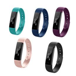 pulseira de fitness baratos Desconto ID115 F0 Inteligente Pulseiras Rastreador De Fitness Passo Contador Atividade Monitor de Banda Despertador Pulseira de Vibração para o iphone Android telefone