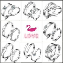 Wholesale Couples Beautiful - European Fashion Couple 925 Sterling Silver Rings for Women and Beautiful Open Rings for Women As Party Lovely Gift