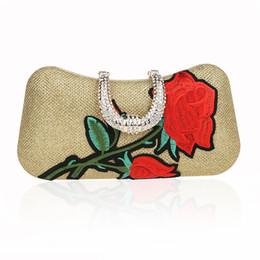 8081983a25 7 Colors Handmade Emroidery Rose Flowers Evening Bag Luxury Wedding Bride  Clutch Bag Pearl Party Handbag Mini Purses Wallet