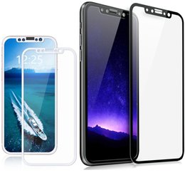 2019 pantalla de carbono iphone Para iphone 8 iphone x borde suave de fibra de carbono 3D Cubierta completa Teléfono de cristal templado Protector de pantalla Película Para iphone x 8 6 7 más pantalla de carbono iphone baratos