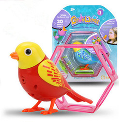 Wholesale toy plastic birds for kids - 20 Voice Control Songs Sound Chirping Singing Music Bird Funny Musical Toy for Children Kids Electric Bird Toy