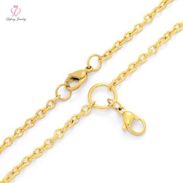 3mm rolo chain Coupons - Fashion 3mm width 24'' 4 Color Silver IP Gold Rose Gold Black Stainless steel rolo chain necklace for floating glass locket C149