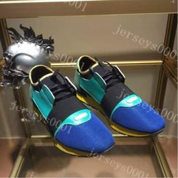 Wholesale Womens Slip Sneakers - DESIGNER SNEAKERS RUNNING SHOES MENS DESIGNER SHOES WOMENS 2018 SPORTS BRAND RUNNERS FLATS Genuine Leather BRAND RACER LUXURY SNEAKERS