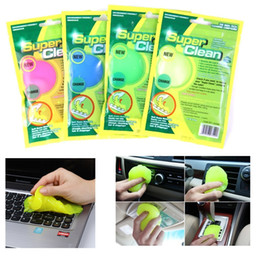 Wholesale Magic Keyboard Cleaner - Keyboard Cleaner Super Cleaner Magic Universal Cleaning Glue Remove Dust Hair For Phone Keyboard Air Condition Car Air Vent opp bag