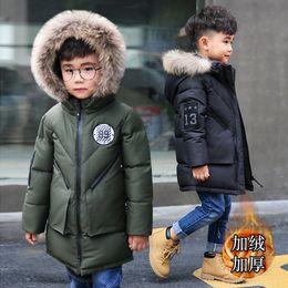e84cb038c19 Children s Winter Clothes 2018 New Boys Winter Coat With Fur Collar Teenage Boy  Thickening Warm Fleece Jackets 3-14 Years