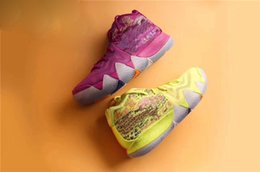 Wholesale Golf Iv - Kyrie 4 EP Men Basketball Shoes Kyrie Irving 4 Confetti Running Shoes for Sale New Irving 4s IV Red Green Yellow Grey Sports Sneakers EP