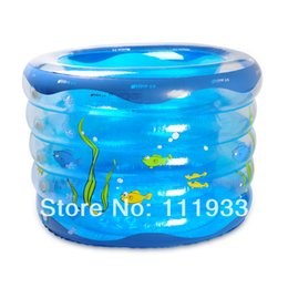 Wholesale Swimming Baby Rings - Imported Quality PVC-made 5-Rings Inflatable Round topping-up thickening baby swimming pool baby paddling pool in GREEN & BLUE