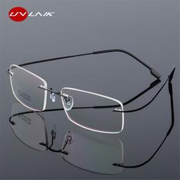 2019 occhiali da vista in titanio per uomo Occhiali da vista UVLAIK montatura per occhiali da vista senza montatura in montatura da donna Uomo Occhiali da vista flessibili montatura da vista montatura per occhiali senza montatura occhiali da vista in titanio per uomo economici
