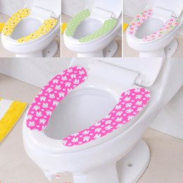 Wholesale Washable Toilet Seat Warmer - Hottest Adhensive Washroom Warm Washable Health Sticky Toilet Mat Seat Cover Pad H837