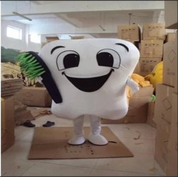 Wholesale Fancy Dress Teeth - 2018 Brand New tooth mascot costume party costumes fancy dental care character mascot dress amusement park outfit
