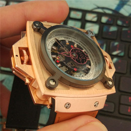 Wholesale Ruby Brown - men's brand luxury Mechanical watch Ruby fashion military men Watch High quality clock Relogio Wristwatches montre homme all pointers work