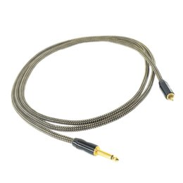 rca clip cords UK - 1PC HEAVY DUTY 15AWG COPPER WIRE RCA CLIPCORD 2METER CCSNAKERCA-02B FOR TATTOO POWER SUPPLY