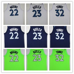 Wholesale Blue Anthony - NCAA Fan 2018 New Mens #23 Jimmy Butler Jersey #32 Karl-Anthony Towns #22 Andrew Wiggins Basketball Jerseys Blue Black White Green Shirt