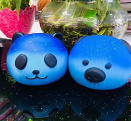 Wholesale Kawaii Panda - STS200 Jumbo Kawaii Starry Sky Panda Squishy Super Slow Rising Charm Squishies Bread Squeeze Bun Kid Toy Anti Stress PU Foam Doll