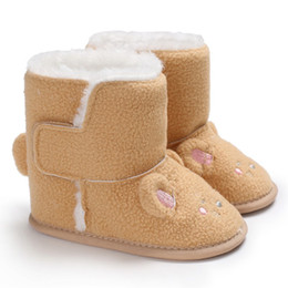 2020 lindos zapatos para bebé Botas de niña Cute Little Mouse Princesa Baby Bottom Soft Shoes Zapatos de caminata para niños Winter Warm lindos zapatos para bebé baratos