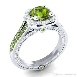 оптовые кольца стерлингового серебра Скидка Размер 6-10 обручальное кольцо для женщин старинные ювелирные изделия ручной работы 925 Stelring серебро заполнены круглой формы мульти драгоценные камни CZ обещание девушка кольца