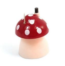 Wholesale Boîte de distributeur de porte cure dents automatique en plastique château conception de champignon Design