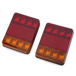 Wholesale Rear Light Assembly - 12V LED Van Truck Car Trailer Stop Rear Tail Brake Light Indicator Lamp Tail Brake Light LED Tail Lights Rear Brake Lamp Stop Turn Indicator