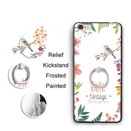 Wholesale painted rings - For iPhone X 8 7 Plus 6s Case 3D Cartoon Painting Sculpture Cases Full Cover Protection Ring Buckle Kickstand Cell Anime Phone Shell