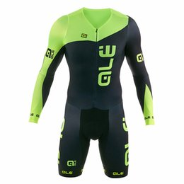 Wholesale Custom Cycling Jerseys - 2018 man ale bicicleta pro cycling jerseys Summer Bicycle Cycling Clothing Ropa Ciclismo cycling skinsuit MTB 9d Siamese clothing custom 9d