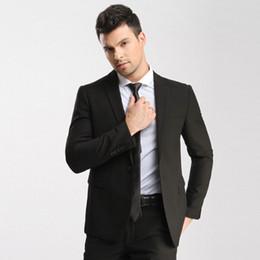 Elegante chaqueta de esmoquin negro online-Tailored Black Stylish Men Suit Brand 2017 Men Casual Party Prom Tuxedo Cute Best Mens Trajes de Boda (Chaqueta + Pantalones + Corbata)