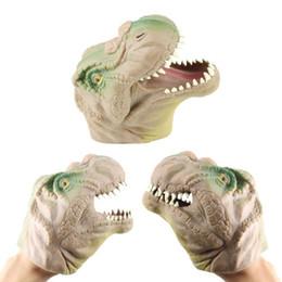 Stuffed & Plush Animals Humor Funny Soft Dinosaur Design Hand Puppet Figure Toys Tyrannosaurus Gloves Children Toy Head Hand Puppet Figure Gloves Toys