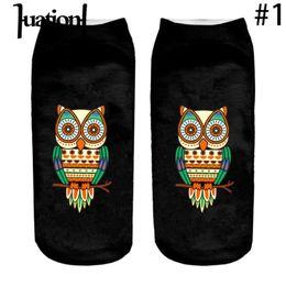 Wholesale Mens Funny Socks - Huation 2017 3D Harajuku Style Printed Men  Women Casual happy Socks Mens Novelty Socks Unisex Low Ankle Funny calcetines